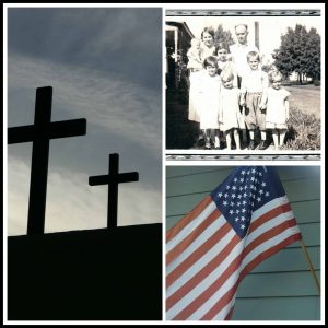 Cross, family, flag