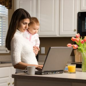 Working from home, work at home woman, work at home mom