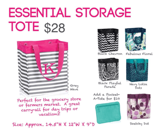Giveaway Winner- Essential Storage Tote