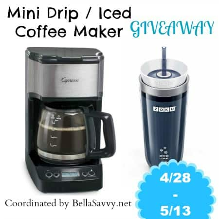 Mini Drip Coffee Maker : Giveaway- Capresso Mini Drip & Zoku Iced Coffee Maker - The Mom Shopping Network
