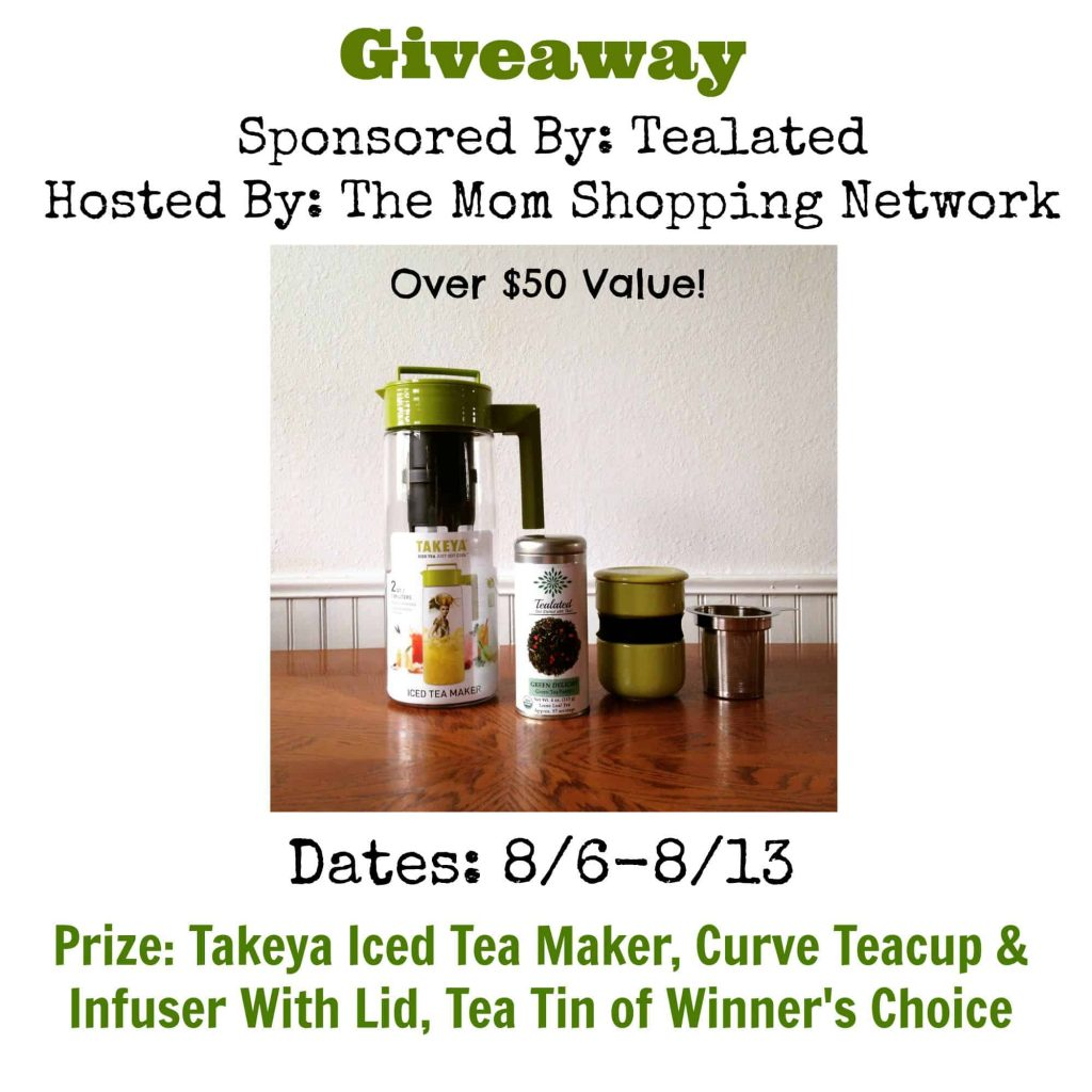 Takeya Iced Tea Maker, Curve Teacup & Infuser with Lid, Tea Tin of Winner's Choice Giveaway