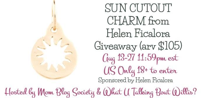 Giveaway- Sun Cutout Charm From Helen Ficalora