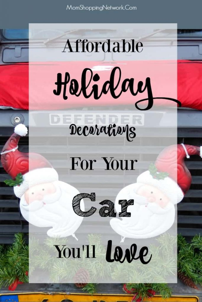 If you want to decorate your car for the holiday season, these are some really fun ideas!