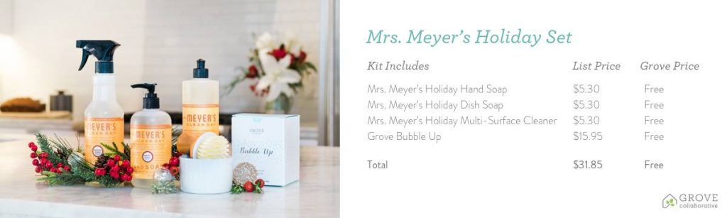 Bring the Holiday Spirit into Your Cleaning Routine with Mrs. Meyer's + Grove Collaborative