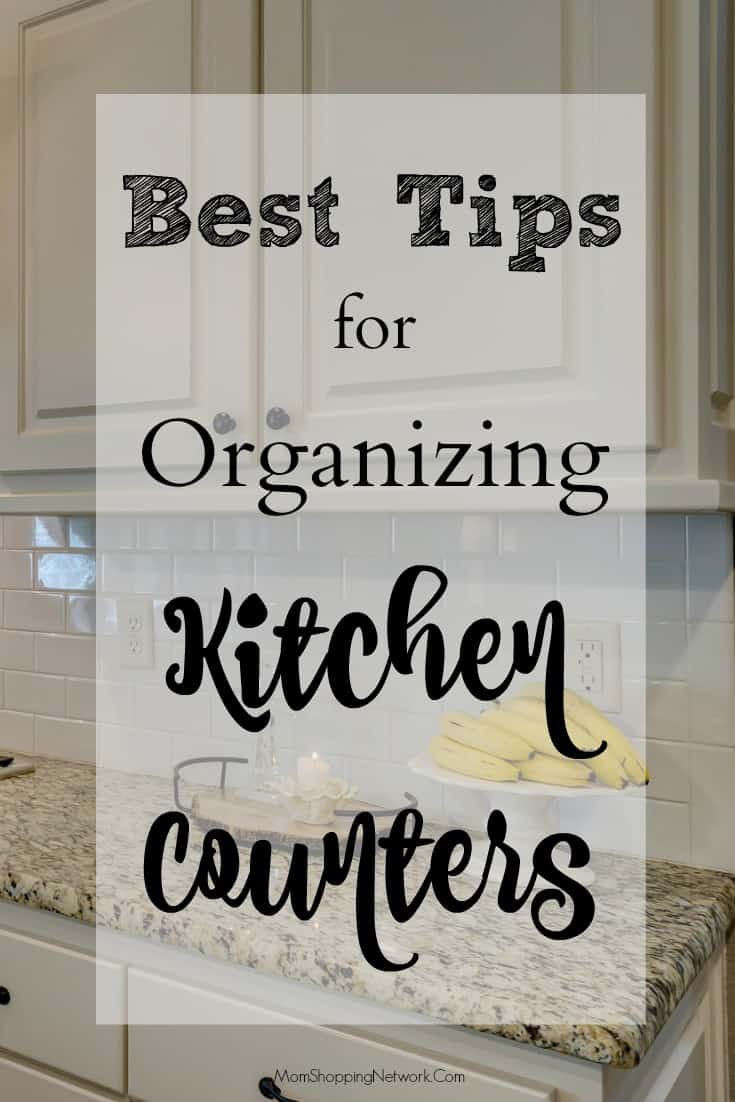 These tips for organizing your kitchen counters really help, so glad I found this!