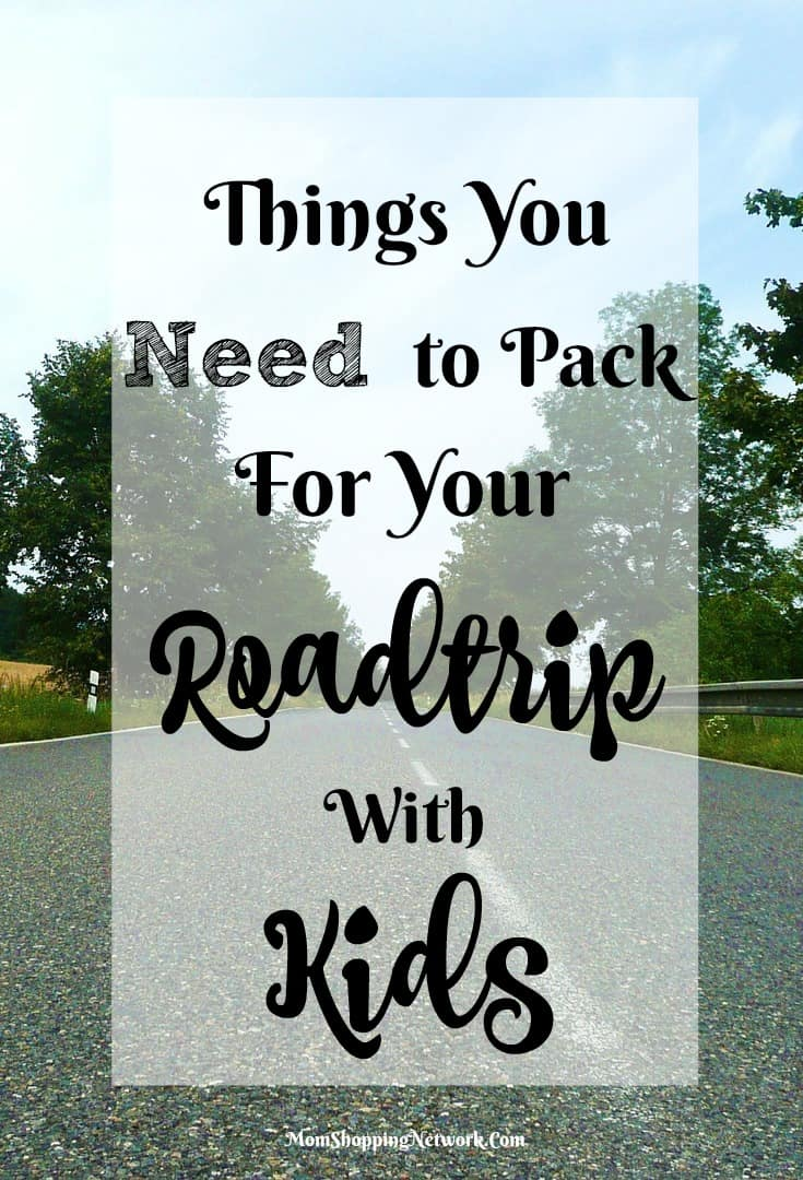 If you're taking a road trip with kids, these things are a must to pack!