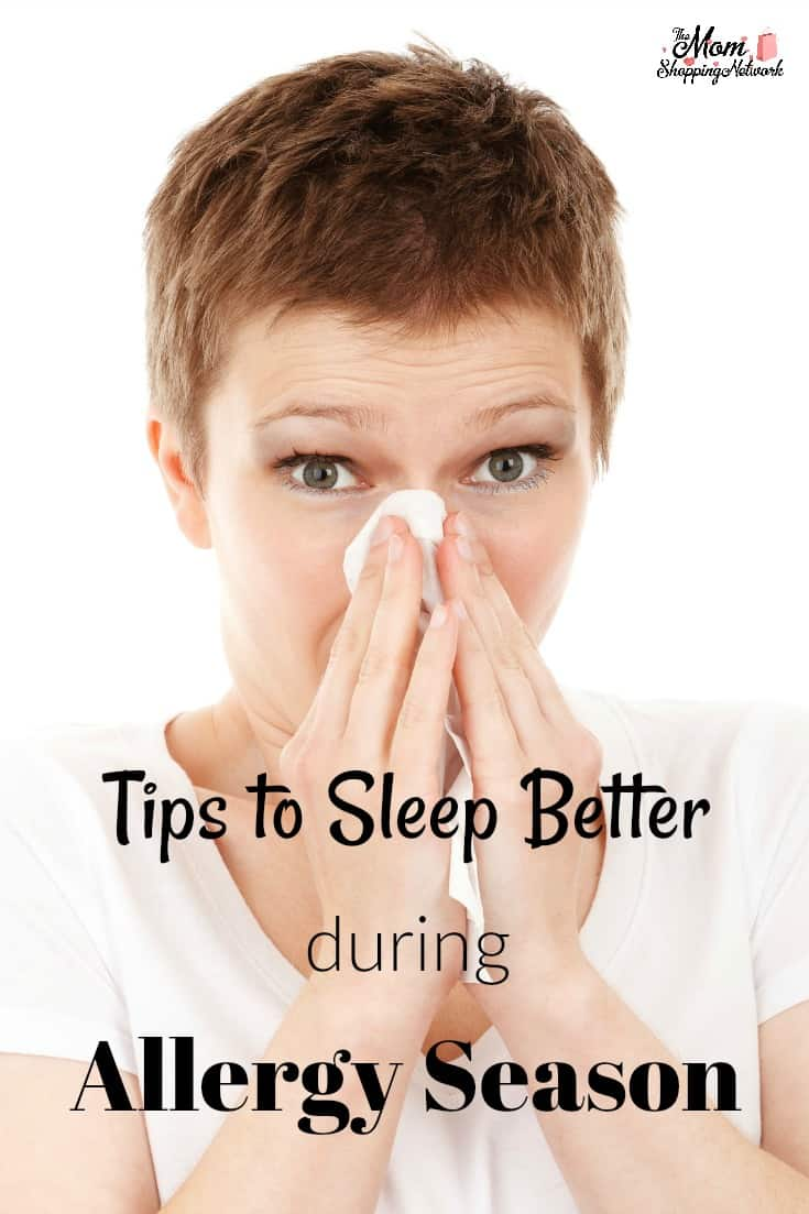 Allergy Season is upon us, and these tips really will help you sleep better during allergy season!