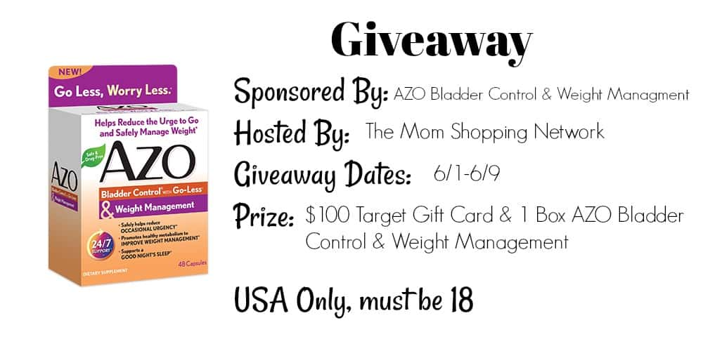 Azo Bladder Control >> Giveaway Azo Bladder Control Weight Management 100 Target Gift