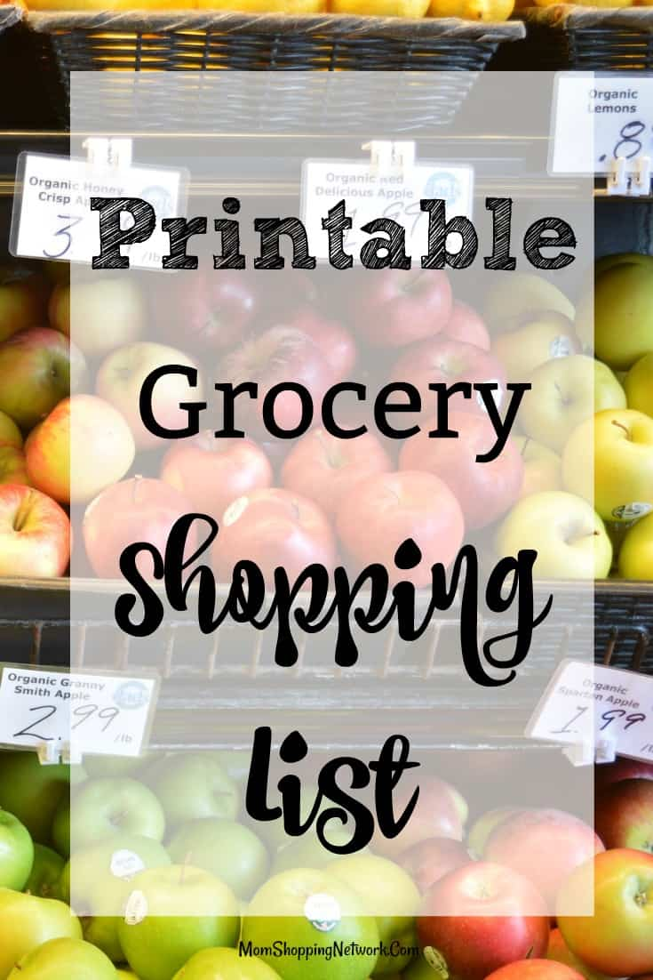 I love FREE printable grocery shopping lists, they really help me save money at the grocery store!
