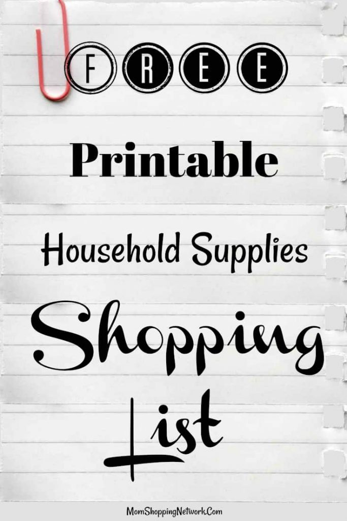 This free printable household supplies shopping list will definitely help keep me organized at the store! FREE Printable|Shopping List|Free printable shopping list|printable household shopping list|household shopping list