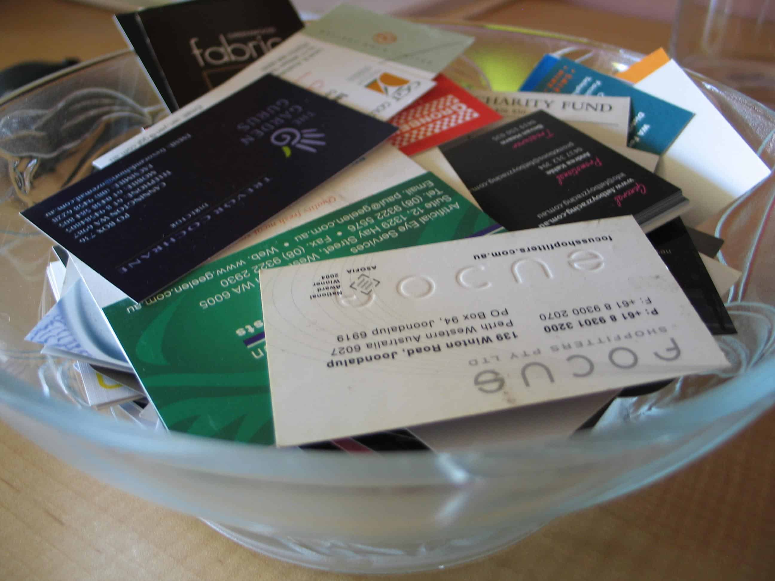 10 Places to Leave or Give Out Your Business Cards