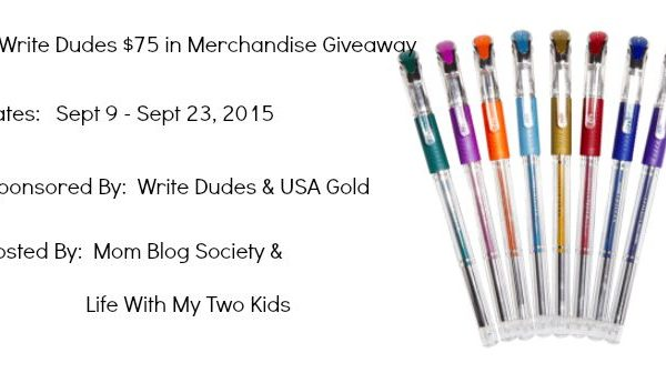 Giveaway- Write Dudes $75 In Merchandise