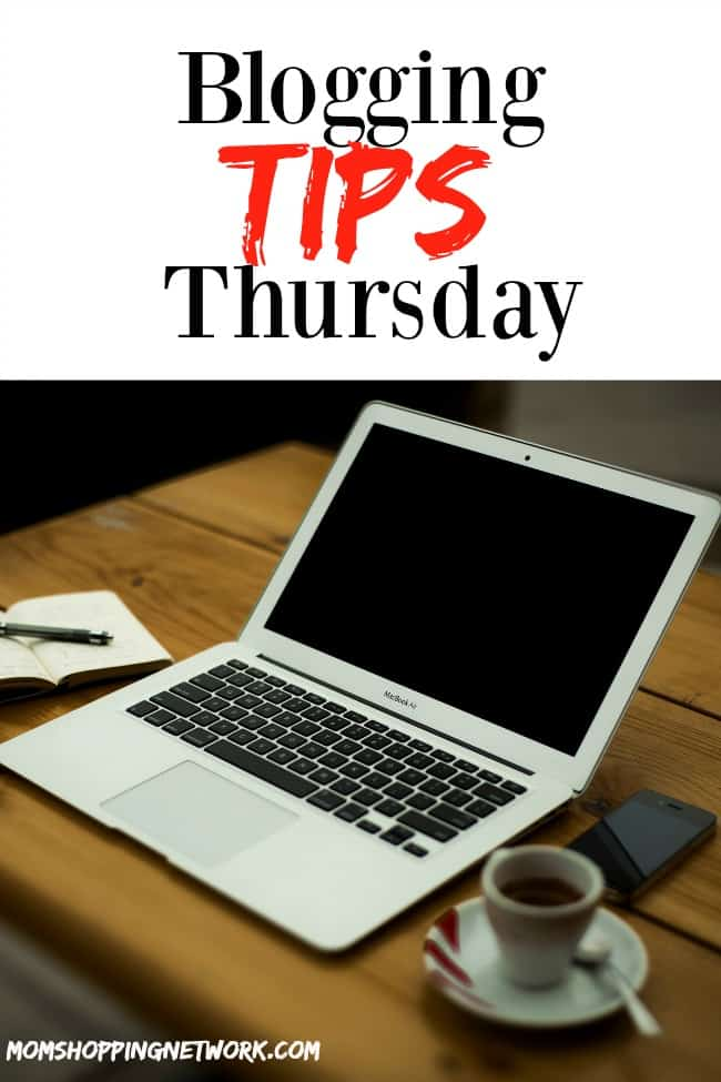 Blogging Tips Thursday