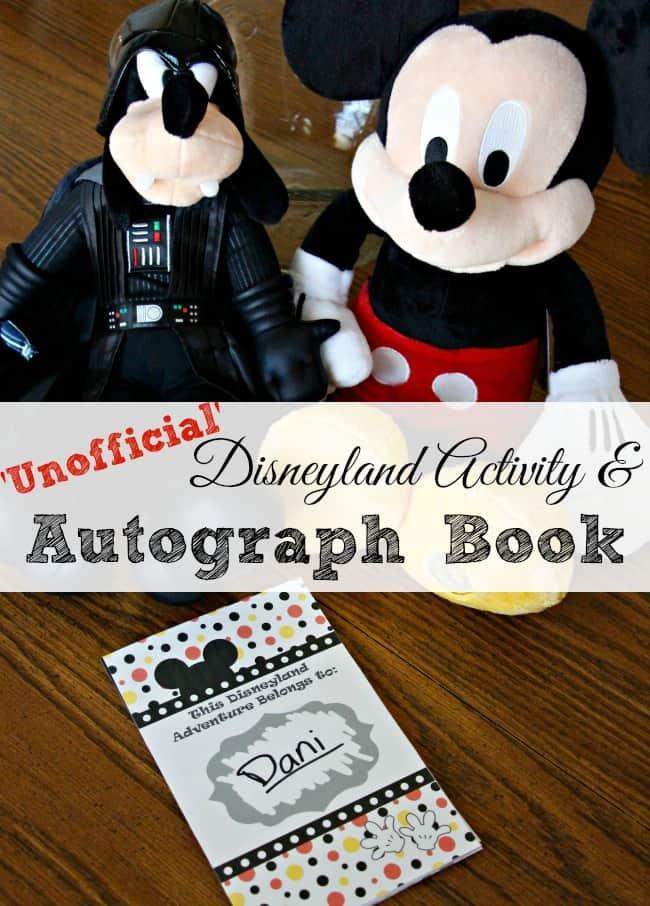 New Disneyland Activity & Autograph Book