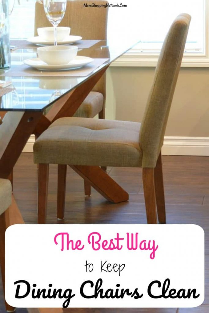 The Best Way to Keep Your Dining Chairs Clean that I know of, it works for us! Keep dining chairs clean|keep chairs clean|chair covers| dining chair slipcovers|dining chair covers|dining room ideas|dining room chairs