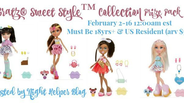 We're happy to be sharing this giveaway- a Bratz Sweet Style Collection Prize Pack