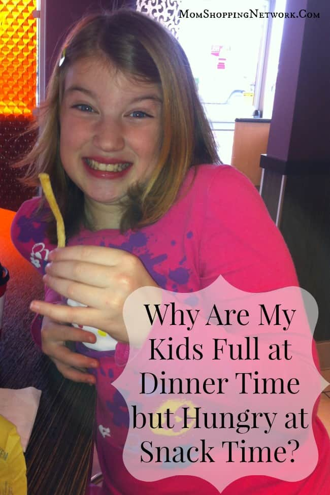 Why Are My Kids Full at Dinner Time but Hungry at Snack Time?
