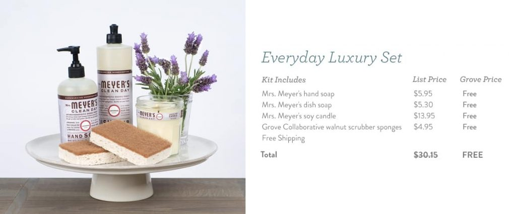 Mrs. Meyer's Everyday Luxury Set- FREE for You!