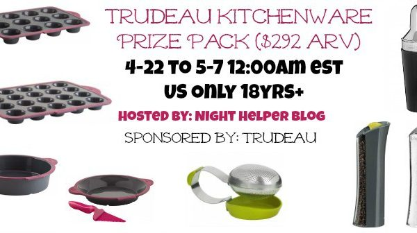 Giveaway- Trudeau Kitchenware Prize Pack $292 Value