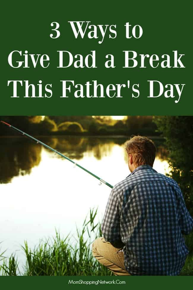 So you've got the perfect gift for Father's Day, but what if what your guy really needs is...A BREAK? It's not as bad as you think! Dads need their space too, their are some great ideas here!