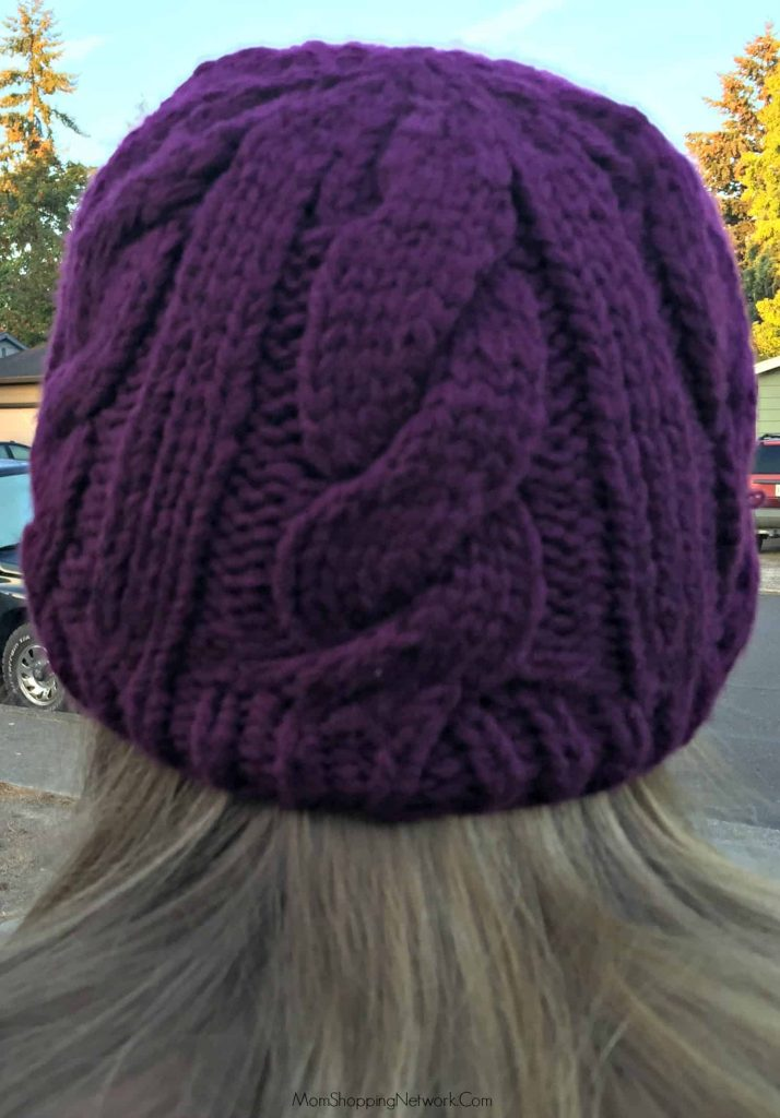 Such a cute hat! Stylish and includes openings for your ponytail, how cool is that?!