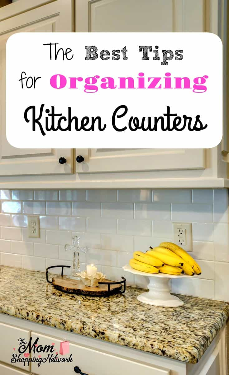 The Best Tips for Organizing Kitchen Counters. #kitchencounterorganizing #kitchentips #organizingtips