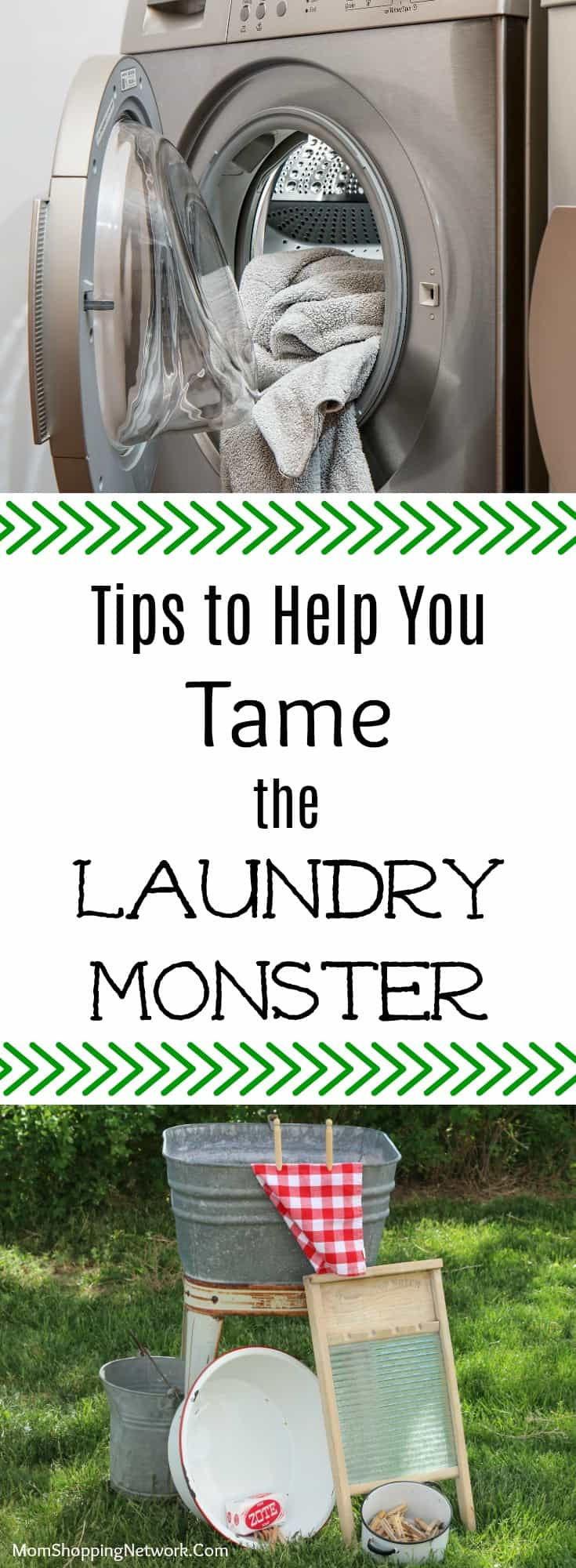 These laundry tips will help you tame the laundry monster once and for all!  #laundrytips #momshoppingnetwork #householdtips #laundry