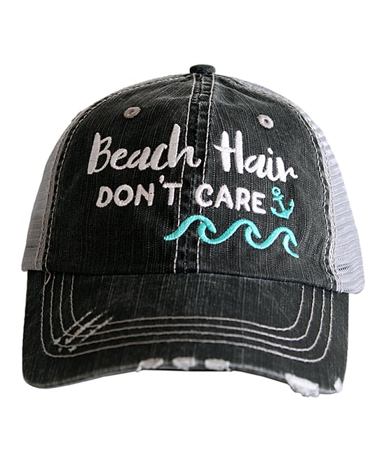 Beach Hair Don't Care Baseball Cap #baseballcap #beachhair #plussizebeachclothing