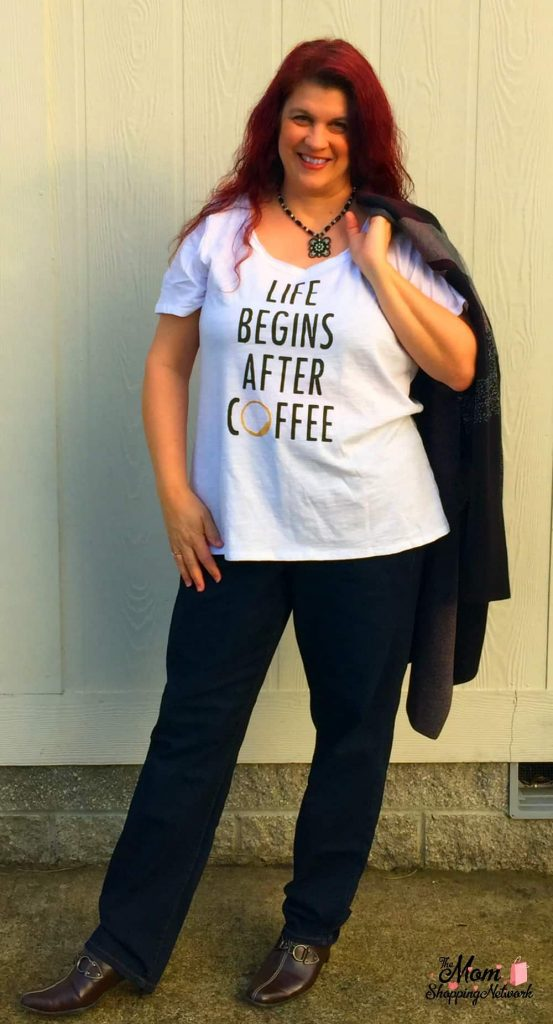 Lane Bryant Life begins after coffee tshirt. #plussizeclothing #plussizes #lanebryant