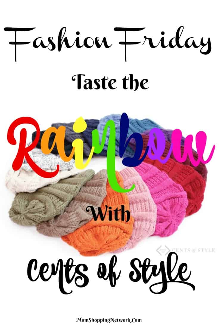 Love these rainbow colors from Cents of Style!