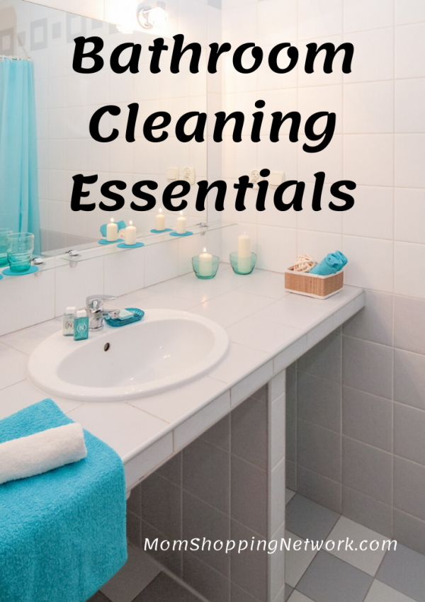 Bathroom Cleaning Essentials. #cleaningproducts #bathroomcleaning #cleaningtips #momshoppingnetwork #householdcleaning