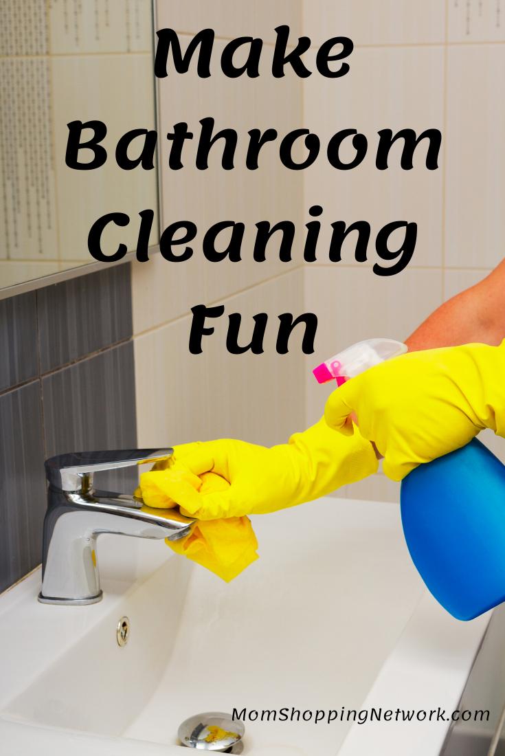 Make Bathroom Cleaning Fun  #bathroom #bathroomcleaningtips #cleaning #householdtips #momshoppingnetwork