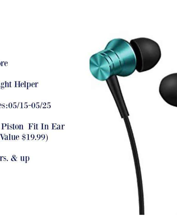 1More Piston Headphones Giveaway- #1More