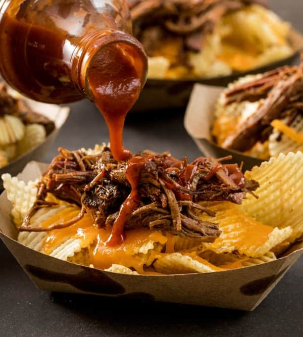 These Brisket Walking Nachos will be a great recipe to try on the 4th of July!