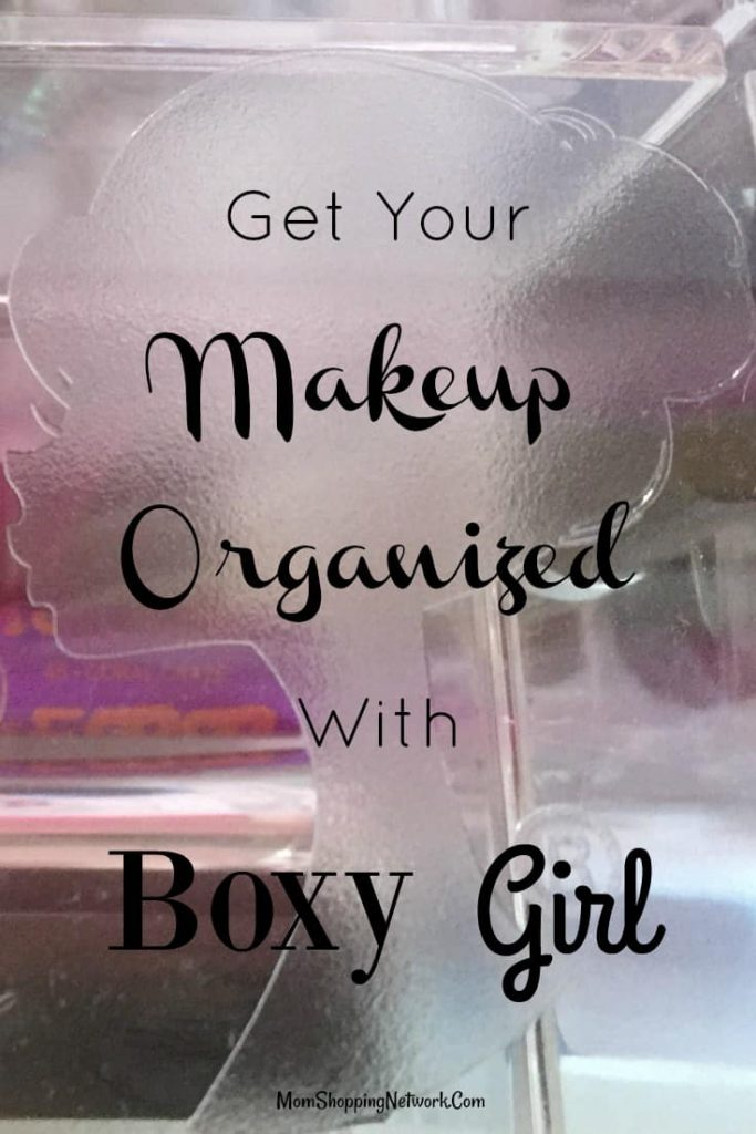I never knew getting your makeup organized could be so easy! Love the Boxy Girl Makeup Organizer!