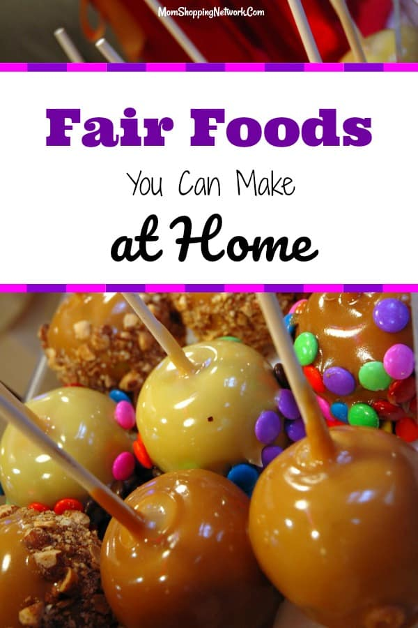 Fair Foods, The Most Popular and Offbeat Recipes from American's State & County Fairs. #fairfoods #fairfoodrecipes #howtomakefairfoods #momshoppingnetwork