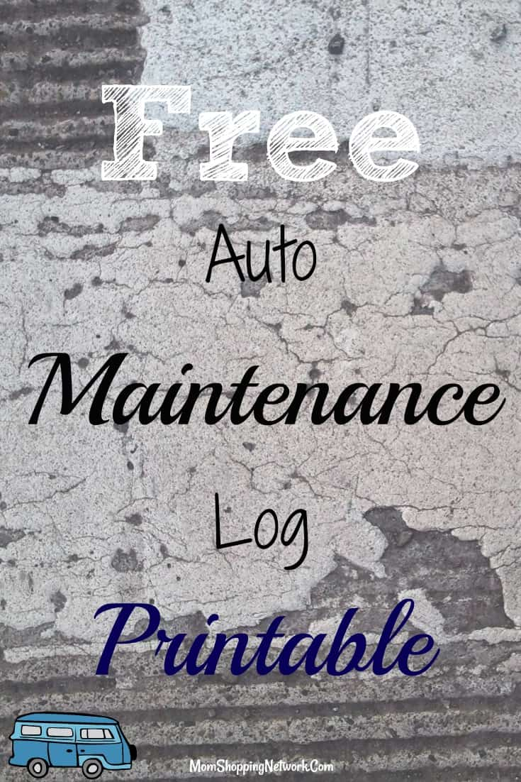 free auto maintenance log printable the mom shopping network