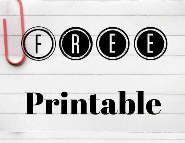 Free Printable Household Supplies Shopping List