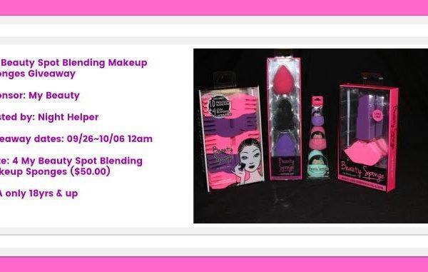 Giveaway- My Beauty Spot Blending Makeup Sponges