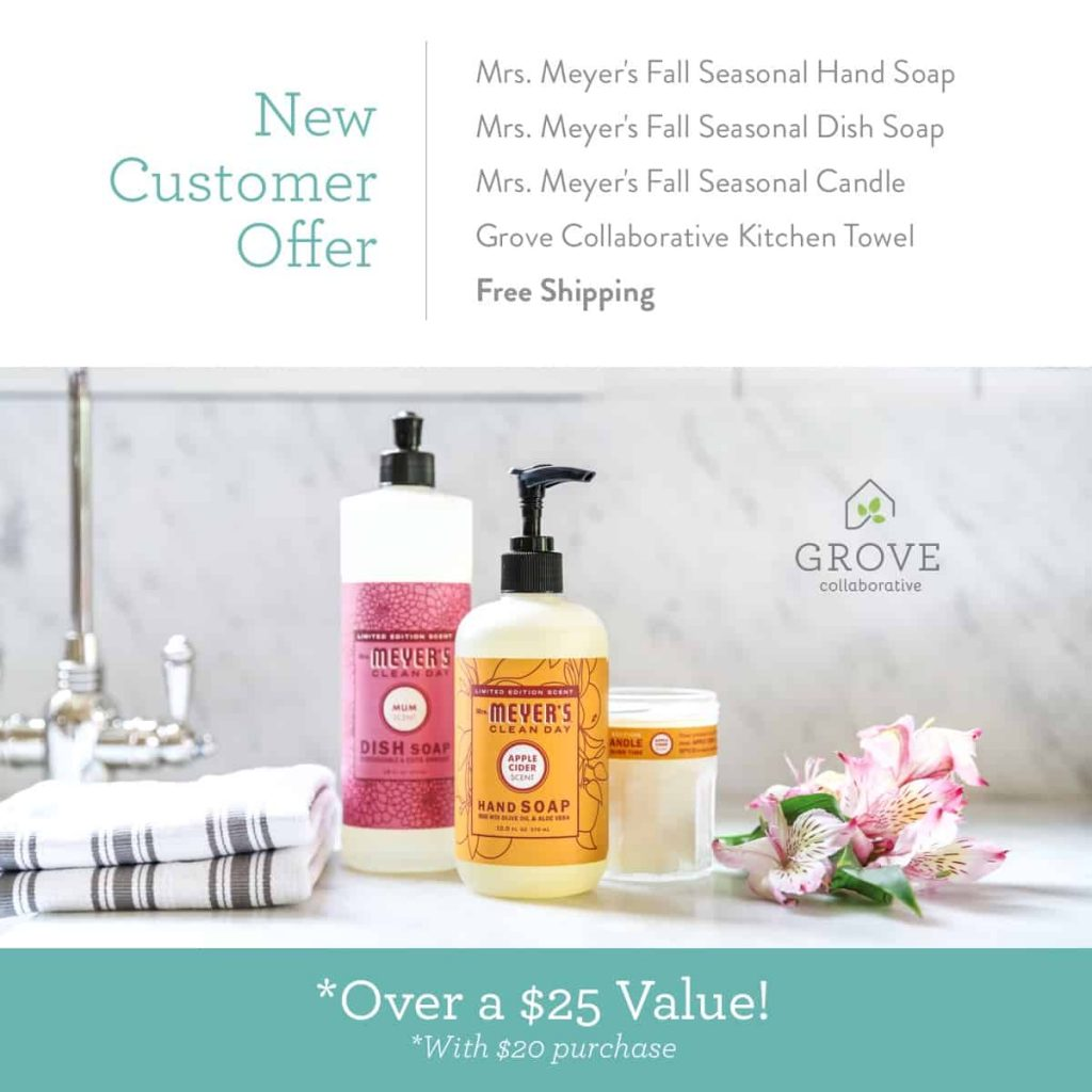 I'm so excited about Mrs. Meyer's fall scents from Grove Collaborative! Free stuff|free Grove Collaborative|fall scents|fall scents for the home|smell good fall scents