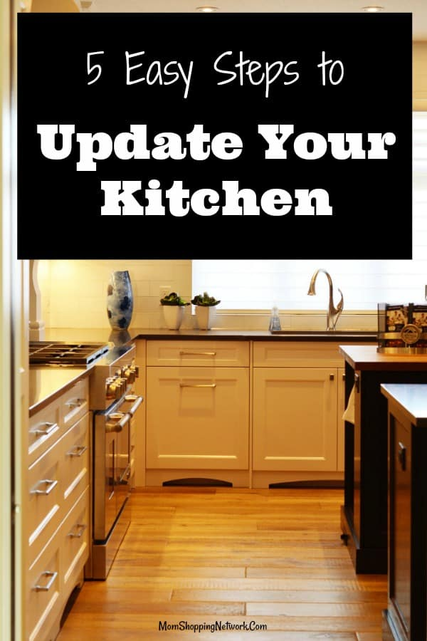 Here are 5 Easy Steps to Update Your Kitchen, great tips on how to improve the look of your kitchen easily and cheaply! #Kitchen #kitchentips #kitchenideas #kitchenhacks #homeimprovement