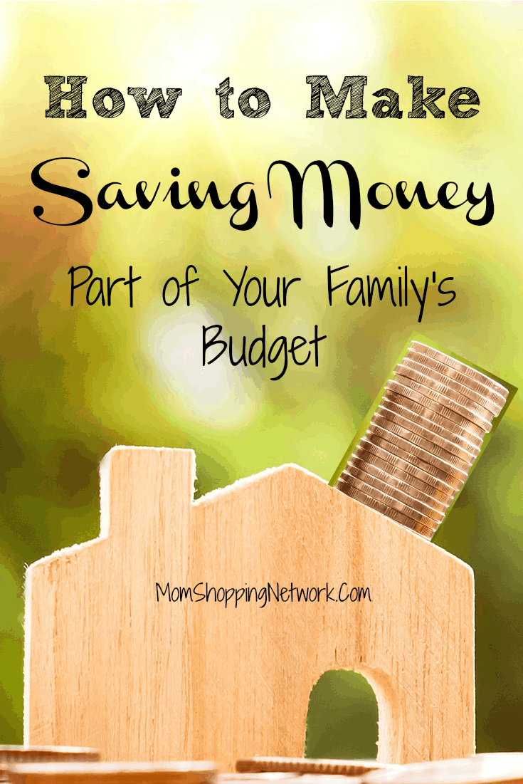 How to Make Saving Money Part of Your Family's Budget #budget #savingmoney #budgettips #financetips