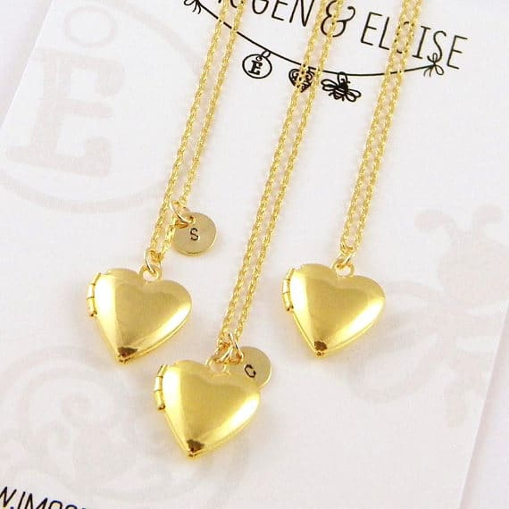 Gold Heart Locket Necklace  #locketnecklace #etsy #jewelry