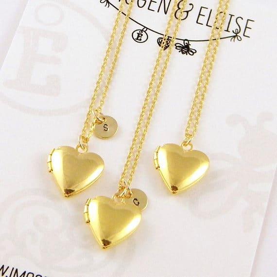 Gold Heart Locket Necklace #locketnecklace #etsy #jewelry