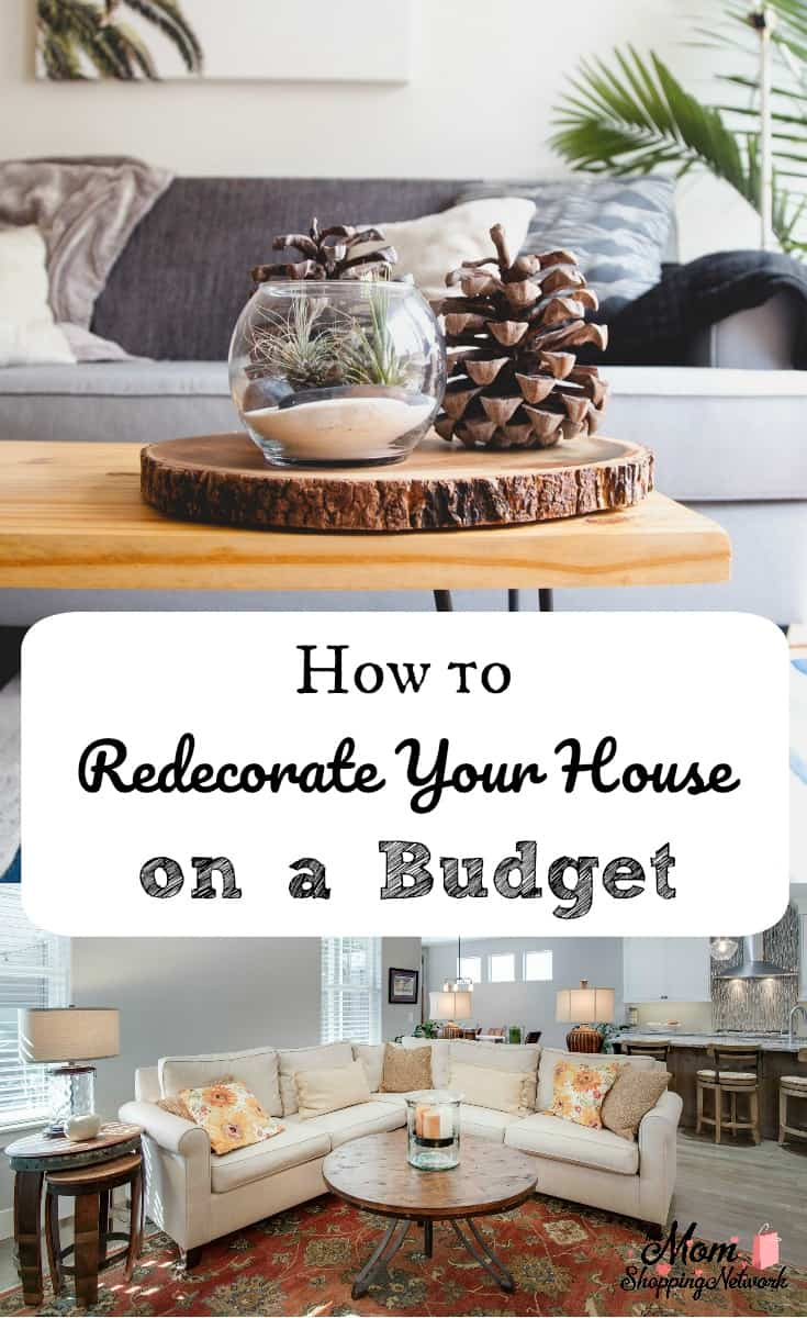 How to redecorate your house on a budget the mom for Building a home on a budget