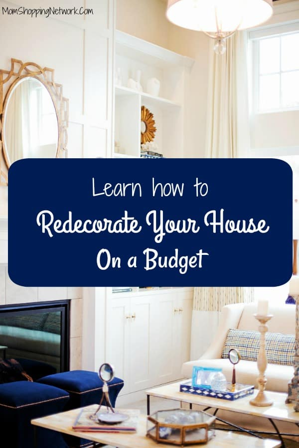 Learn how to redecorate your house on a budget, finally tips on saving money on home decor that anyone can use!