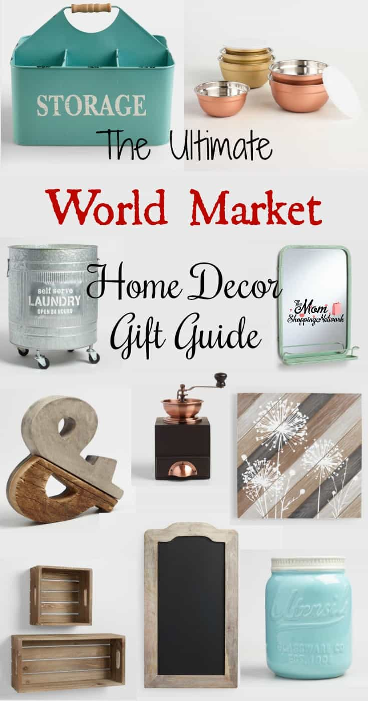 This really is the Ultimate World Market Home Decor Gift Guide! Awesome! World Market|World Market Decor|World Market Furniture|World Market Home Decor|World Market Home Style|Home Decor|Home Decor Ideas|Home Decor Gifts|Farmhouse Decor|Farmhouse home decor|farmhouse ideas|Farmhouse home decor ideas|Farmhouse Gifts|Farmhouse home decor gifts|gifts|gift guide|Gift ideas|gift ideas for women