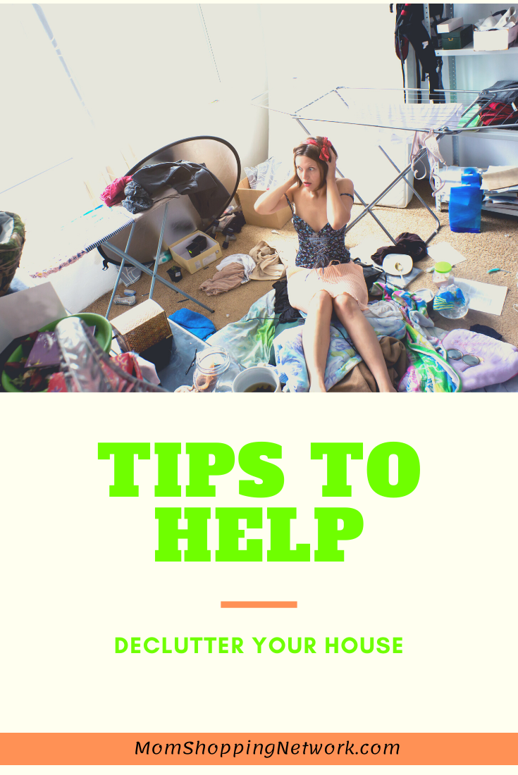 The Best Tips to Help You Declutter Your House. #cleaningtips #housecleaning #decluttertips #momshoppingnetwork #organizingtips