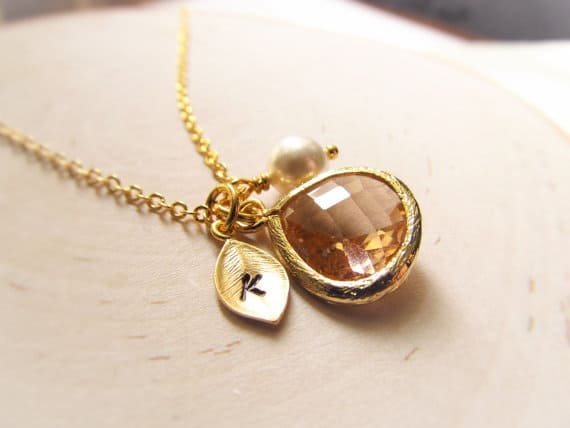 Birthstone Necklace Under $25  #giftsunder$25