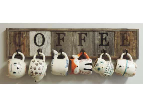 Coffee Mug Rack #coffeerack #coffeemugs